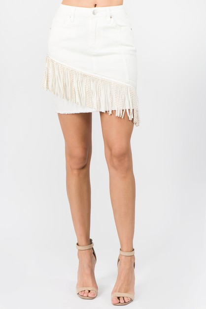 PLUS SIZE FRINGE TRIM MINI SKIRTS - orangeshine.com