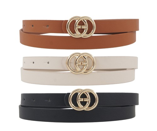 3 pieces skinny belt set - orangeshine.com
