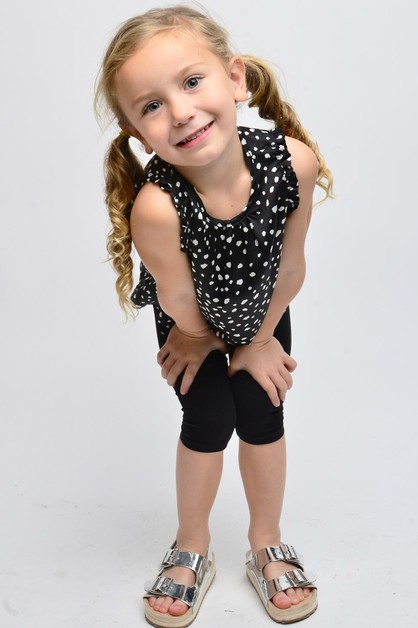 KIDS SLEEVELESS POLKADOT WOVEN TOP - orangeshine.com