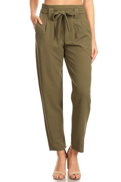 Paperbag Waist Pants Trousers Relax - orangeshine.com