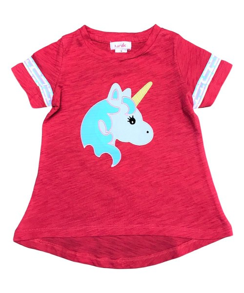 unik Girl Unicorn Cotton Top Coral - orangeshine.com