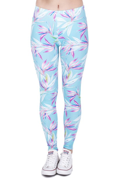 COLOR LEAVES Digital Print Leggings - orangeshine.com