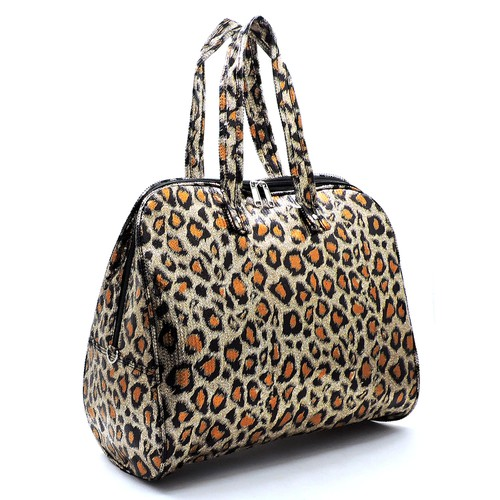 Sequin Leopard Carry On Duffle Bag - orangeshine.com