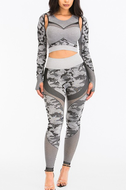 Seamless Active Crop Top & Bottom. - orangeshine.com