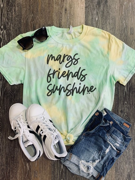 Margs Friends Sunshine Graphic Tee - orangeshine.com