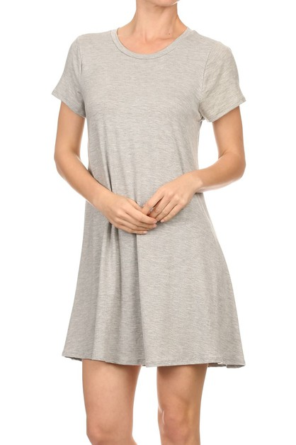 SHORT SLEEVE T-SHIRT DRESS - orangeshine.com
