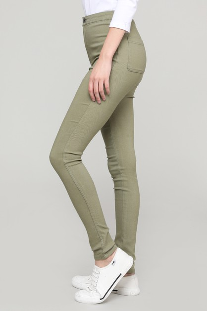 SOLID BASIC COLOR PANTS  - orangeshine.com