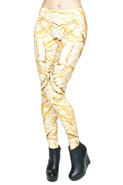GOLD Digital Printed Leggings - orangeshine.com