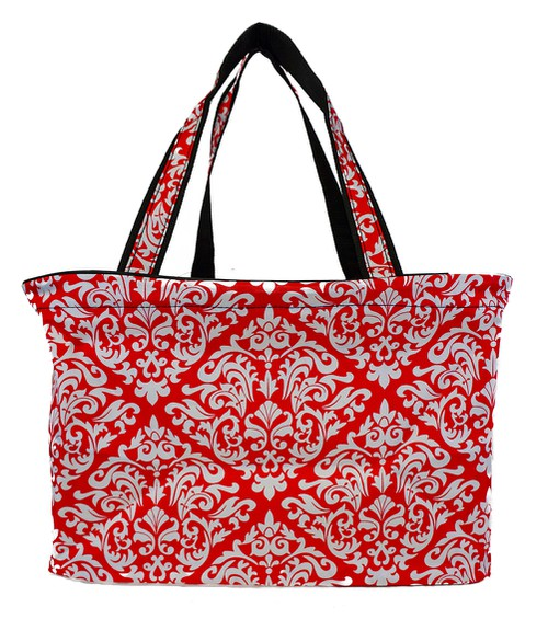 Damask Beach Tote Bag 18 inch - orangeshine.com