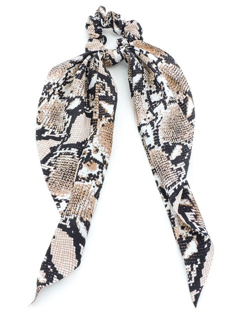 Amaretto Snake Scrunchie Scarf Set - orangeshine.com