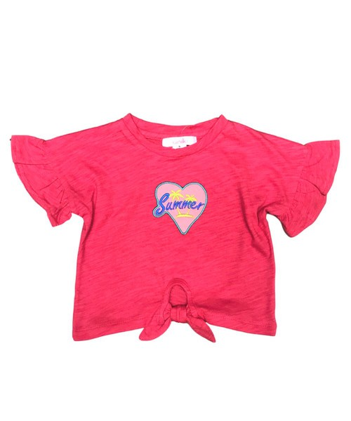 unik Girls Summer Heart Embroidery  - orangeshine.com