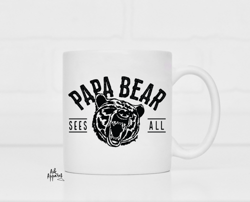 Papa Bear Sees All Mug - orangeshine.com
