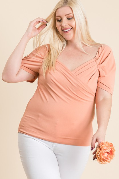 FITTED CANDY WRAP SHORT TOP - orangeshine.com
