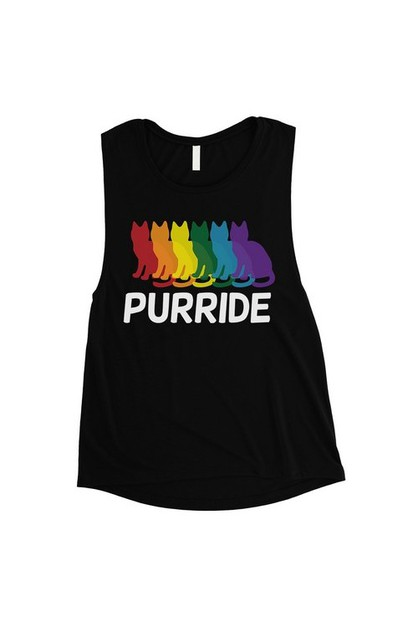 Purride Rainbow Cats Muscle Top - orangeshine.com