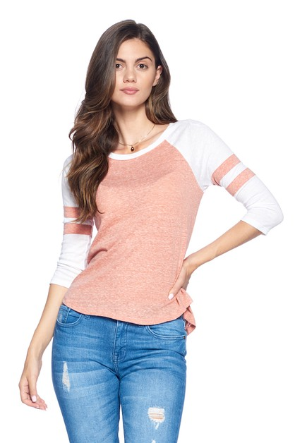 TOP BASEBALL TEE - orangeshine.com