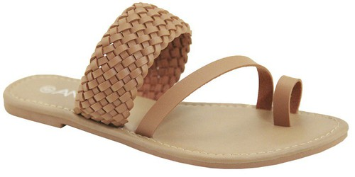 WOVEN STRAPPY TOE RING SANDALS - orangeshine.com