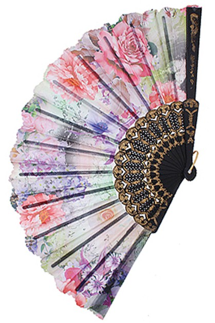Flower Hand Fan - orangeshine.com