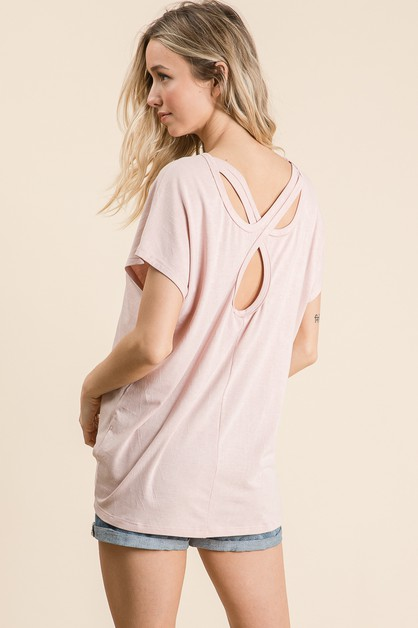 TWISTED KEYHOLE BACK TOP - orangeshine.com