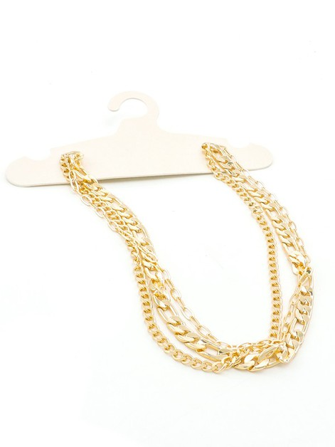 3 Strand Chain Link Necklace - orangeshine.com