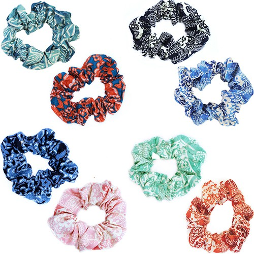 Cotton Scrunchies- 10 pack assorted - orangeshine.com