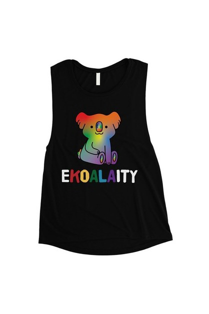 Ekoalaity Koala Rainbow Muscle Top - orangeshine.com