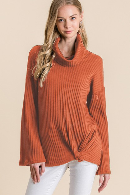 TURTLE NECK WITH FRONT TWIST TOP - orangeshine.com