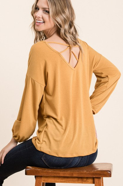 SOLID VISCOSE BACK SIDE DETAIL TOP - orangeshine.com