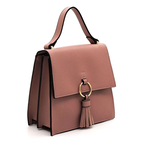 Fashion Ring Tassel Flap Crossbody  - orangeshine.com