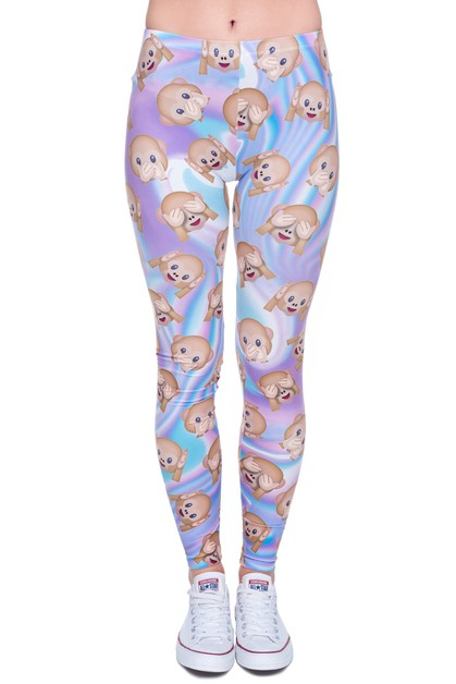 HOLO MONKEYS Printed Leggings - orangeshine.com