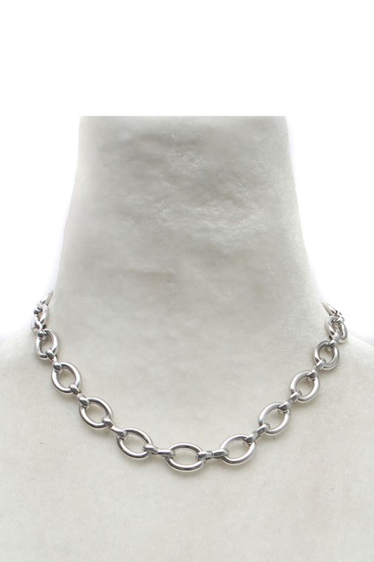 METAL LINK NECKLACE  - orangeshine.com