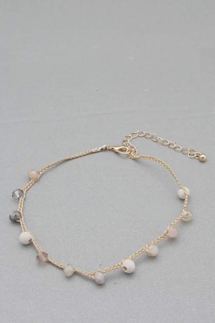 GLASS BEADS ANKLET - orangeshine.com
