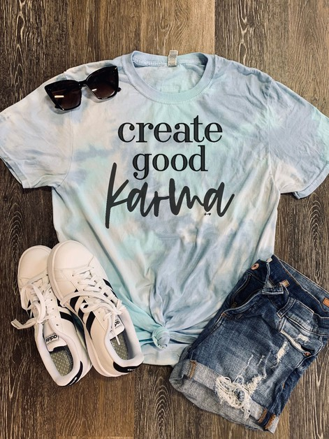 Create Good Karma Graphic Tee - orangeshine.com