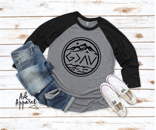 God Is Greater Raglan - orangeshine.com