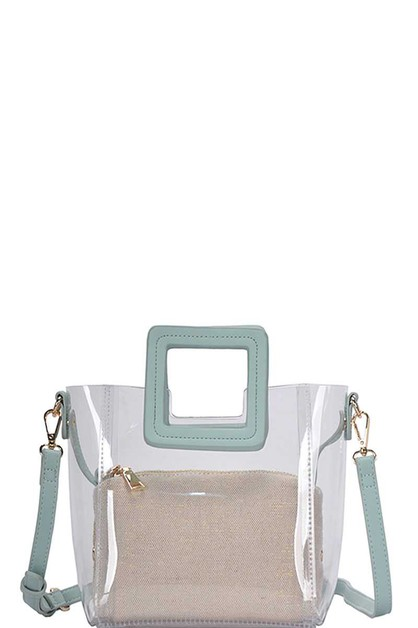 2IN1 TRANSPARENT SATCHEL  - orangeshine.com