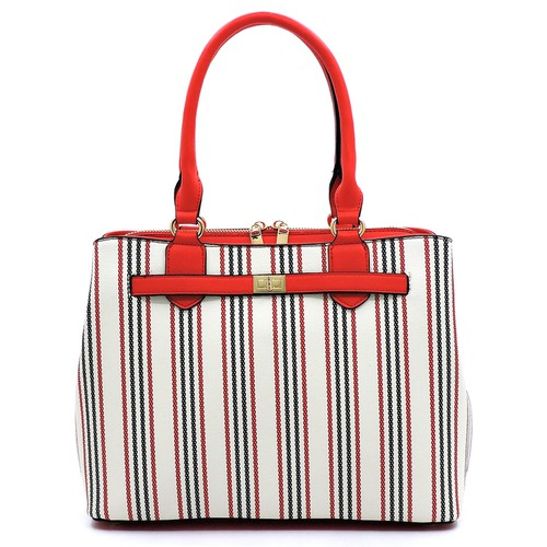 Fashion Stripe Multi Compartment Bag - orangeshine.com