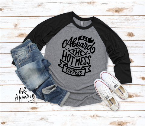 Hot Mess Express Raglan - orangeshine.com