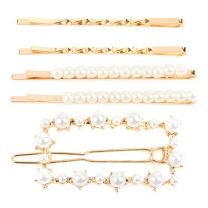 SQUARE PEARL HAIR CLIP SET - orangeshine.com