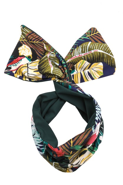 Tropical Forest Print Turban Headban - orangeshine.com