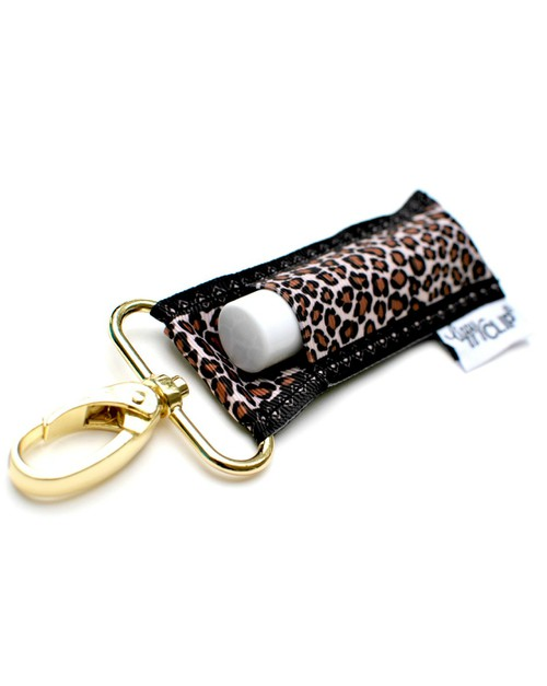 Leopard with Black Border LippyClip - orangeshine.com