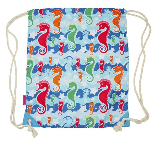 Sea Horse Drawstring Backpack - orangeshine.com