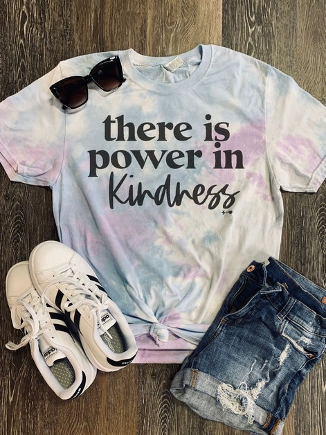 Power In Kindness Graphic Tee - orangeshine.com