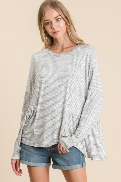LUND STRIPE LOOSE FIT TOP - orangeshine.com