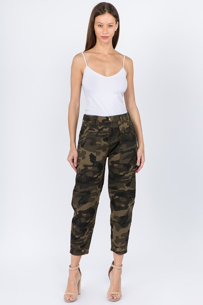 PLUS HIGH WAIST RELAXED FIT PANTS - orangeshine.com