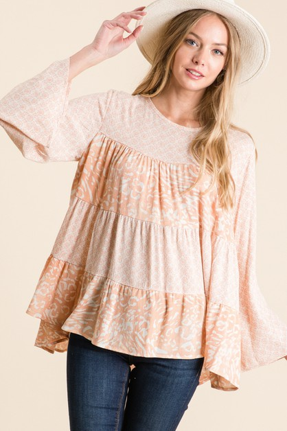 FLORAL PRINT TUNIC TOP - orangeshine.com