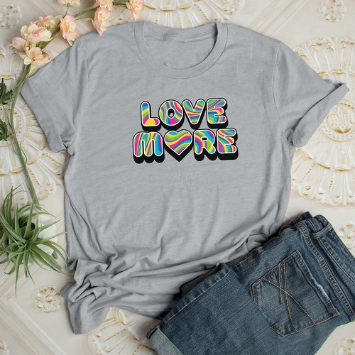 Love More Tee - orangeshine.com