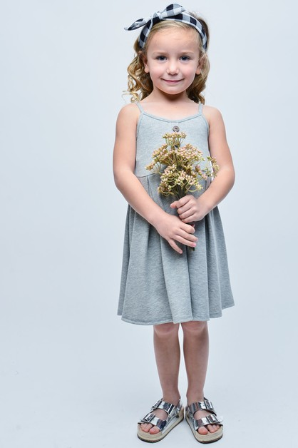KIDS SLEEVELESS SOLID DRESS - orangeshine.com