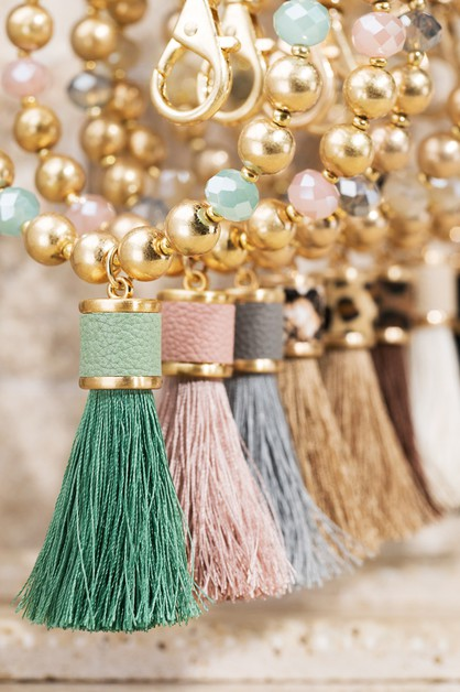 Tassel Key Ring Bracelet - orangeshine.com