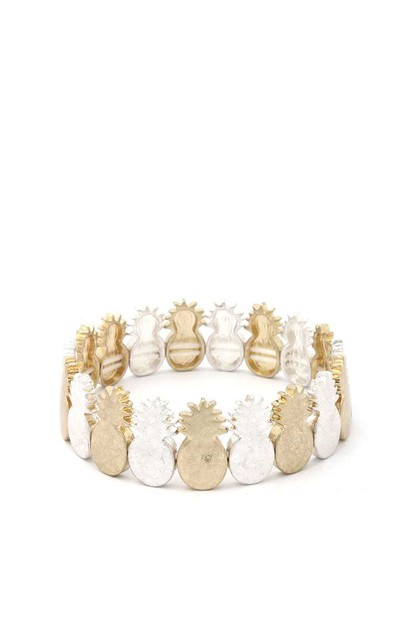 PINEAPPLE STRETCH BRACELET - orangeshine.com