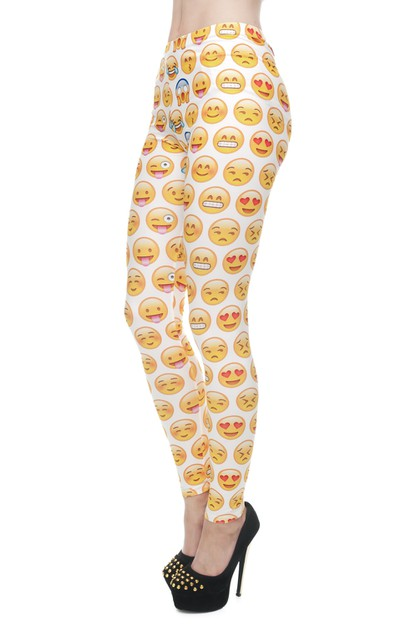 EMOJI yellow Digital Printed Legging - orangeshine.com