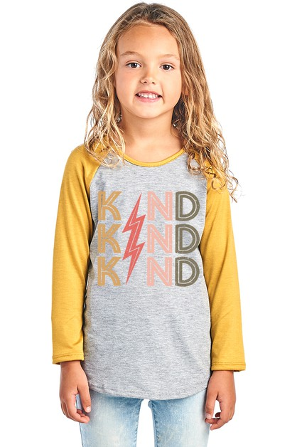 KID BASEBALL RAGLAN LONG SLEEVE - orangeshine.com